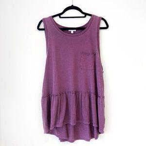 ✨NWT Abound Purple Flowy Tank✨
